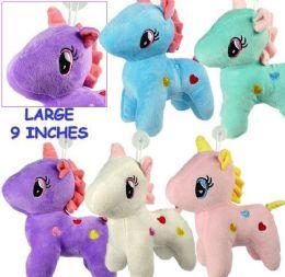 """12 Units of 9"""" Plush Unicorn Window Hangers - Plush Toys"""