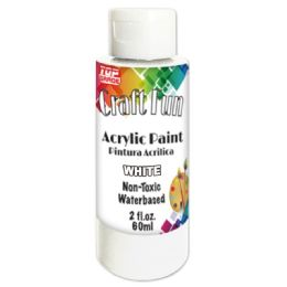144 Units of Acrylic Paint White - Paint, Brushes & Finger Paint