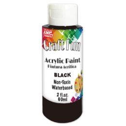 144 Units of Acrylic Paint Black - Paint, Brushes & Finger Paint