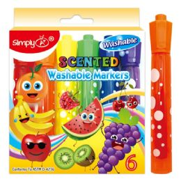72 Units of Scented Washable Markers - Markers and Highlighters