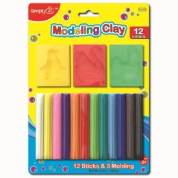 96 Units of Twelve Color Modeling Clay - Clay & Play Dough