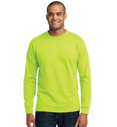 36 Units of Men's Fruit Of the Loom Safety Green Long Sleeve T-Shirts, Size Xlarge - Mens T-Shirts