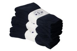 240 Units of Yacht & Smith Women's Sports Crew Socks, Size 9-11, Navy - Womens Crew Sock
