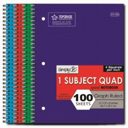 96 Units of Quad Ruled Spiral Notebook - Note Books & Writing Pads