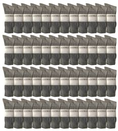 48 Units of Yacht & Smith Men's King Size Premium Cotton Crew Socks Gray Size 13-16 - Big And Tall Mens Crew Socks