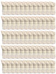 120 Units of Yacht & Smith Men's Cotton Crew Socks White Size 10-13 - Mens Crew Socks