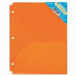 120 Units of Two Pocket Poly Portfolio Translucent Orange - Folders and Report Covers