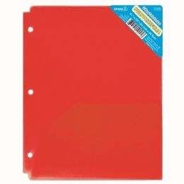 120 Units of Two Pocket Poly Portfolio Translucent Red - Folders and Report Covers