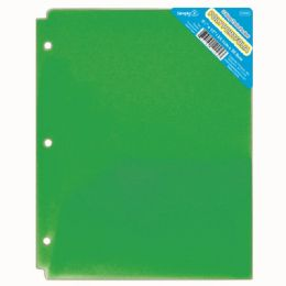 120 Units of Two Pocket Poly Portfolio Translucent Green - Folders and Report Covers