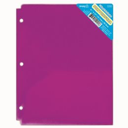 120 Units of Two Pocket Poly Portfolio Translucent Purple - Folders and Report Covers