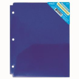 120 Units of Two Pocket Poly Portfolio Translucent Blue - Folders and Report Covers