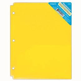 120 Units of Two Pocket Poly Portfolio Translucent Yellow - Folders and Report Covers
