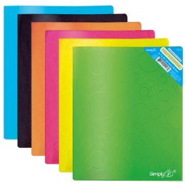 96 Units of Two Pocket print poly folder - Folders and Report Covers