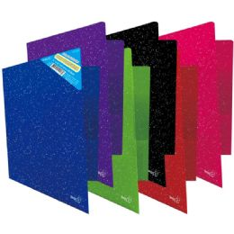 96 Units of Two Pocket Poly Portfolio Glitter - Folders and Report Covers