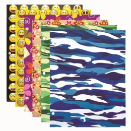 144 Units of Two Pocket Paper Folder Assorted - Folders & Portfolios