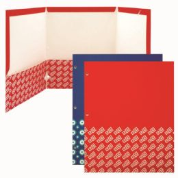 120 Units of Three Pocket Paper Folder Assorted - Folders & Portfolios