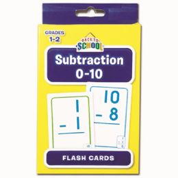 24 Units of Flash Cards Subtraction - Classroom Learning Aids