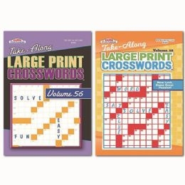 160 Units of Large Print Crosswords - Crosswords, Dictionaries, Puzzle books