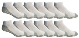 12 Units of Yacht & Smith Mens Cotton Ankle Socks, Low Cut Athletic Socks - Mens Ankle Sock