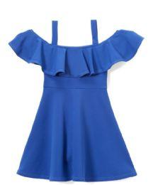 6 Units of Girls Royal Blue Ruffle Summer Dress - Girls Dresses and Romper Sets