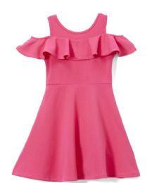 6 Units of Girls Fuchsia Soft and Stretchy Neoprene Dress, Size 4-6X - Girls Dresses and Romper Sets