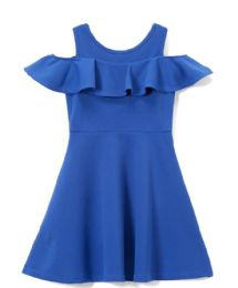 6 Units of Girls Royal Blue Soft and Stretchy Neoprene Dress, Size 7-14 - Girls Dresses and Romper Sets