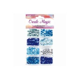 144 Units of Sequins Set Blue - Sewing Supplies