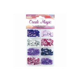 96 Units of Sequins Set Purple - Sewing Supplies
