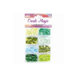 96 Units of Sequins Set Green - Sewing Supplies
