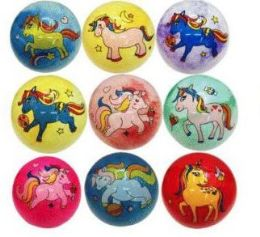 48 Units of 12 Inch Unicorn Printed Bouncing Ball - Balls