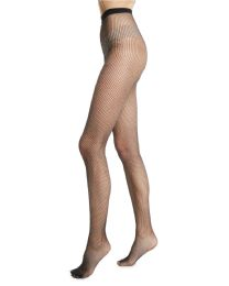 36 Units of Yacht & Smith Fishnet Pantyhose, High Waisted Mesh Stockings, Black, One Size - Womens Pantyhose