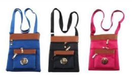 24 Units of Women's Colored Crossbody Bag - Shoulder Bags & Messenger Bags