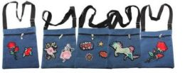 24 Units of Women's Assorted Patch Denim Cross Body Bag - Shoulder Bags & Messenger Bags