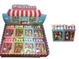 48 Units of 4 Pack Mini Food Erasers - Erasers