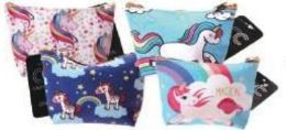 24 Units of Unicorn Assorted Printed Coin Bag - Coin Holders & Banks