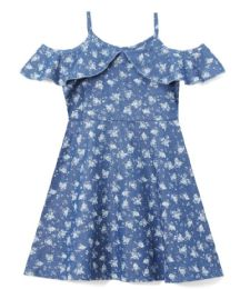 6 Units of Girls' Denim Dress in Size 7-14 - Girls Dresses and Romper Sets