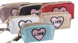 """24 Units of """" Love"""" Cosmetic Bag - Cosmetic Cases"""