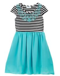 6 Units of Girls' Mint Chiffon Dress in Size 7-14 - Girls Dresses and Romper Sets