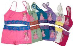 144 Units of Girl's Seamless Bra Boxer Set - Girls Underwear and Pajamas