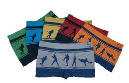 48 Units of Boy's Sport Printed Boxer Briefs - Boys Underwear