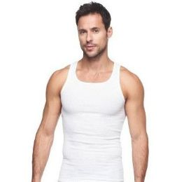 72 Units of Mens Cotton A Shirt Undershirt Solid White Assorted Sizes - Mens T-Shirts