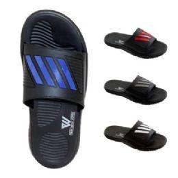 48 Units of Mens Sport Slide - Men's Flip Flops and Sandals