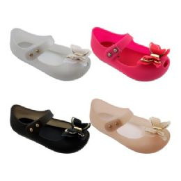 40 Units of Girls Butterfly Mary Jane Shoes - Girls Flip Flops