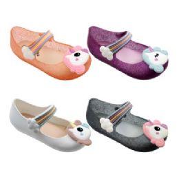48 Units of Girls Unicorn Mary Jane Shoes Assorted - Girls Flip Flops