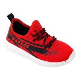 9 Units of Kids Blessed Jogger In Red And Black - Boys Sneakers