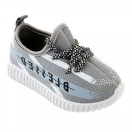 9 Units of Kids Blessed Jogger In Gray And White - Boys Sneakers