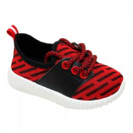 9 Units of Kids Bar Jogger In Red - Boys Sneakers