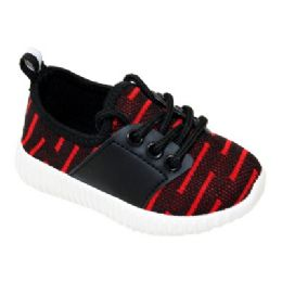 9 Units of Kids Bar Jogger In Black And Red - Boys Sneakers