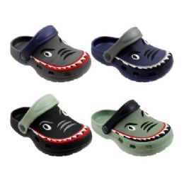 48 Units of Boys Shark Garden Shoes - Boys Flip Flops & Sandals