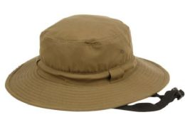 12 Units of Waterproof Outdoor Bucket Hats With Chin Cord Strap - Bucket Hats